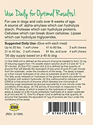 NaturVet Digestive Enzymes Plus Probiotic for Dogs, 70 ct Soft Chews , Made in USA