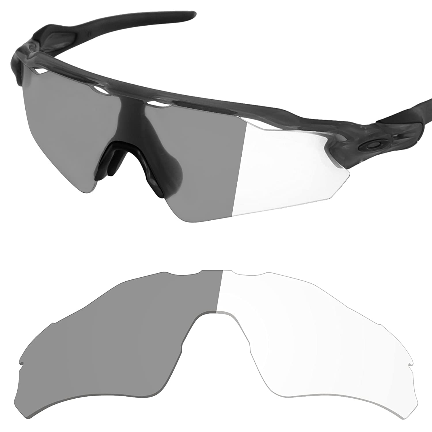 ea94a29e1f1 Amazon.com  Tintart Performance Replacement Lenses for Oakley Radar EV Path  - Photochromic Clear to Dark  Clothing