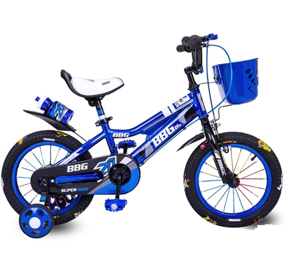 美しい 家子供用自転車、男性用と女性用の自転車、乳母車、12/14/16インチの26歳の自転車、赤ん坊のおもちゃの車 (色 : 青, サイズ さいず : 12 inch) B07CXH5FYL 12 inch|青 青 12 inch