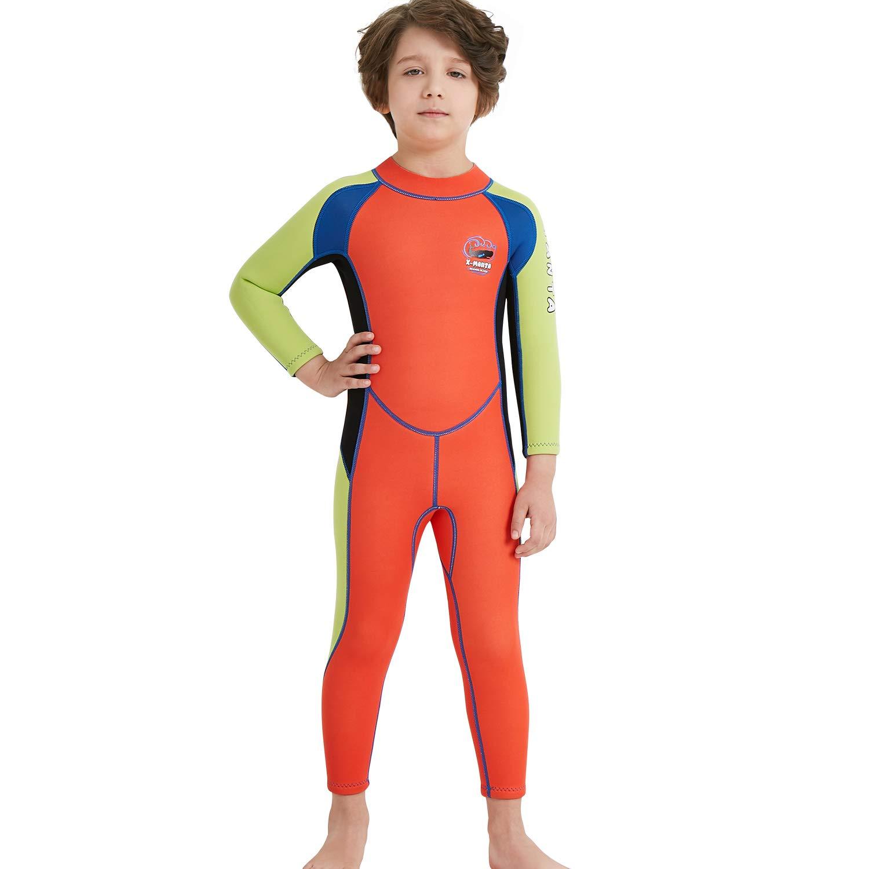 bfc9dffcbf Amazon.com: Gogokids Kids Wetsuit - Boys Girls Rash Guard One Piece  Neoprene Swimsuits: Clothing