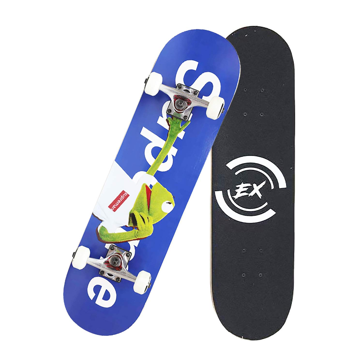 Pro Skateboard 31'' X 8'' Standard Skateboards Cruiser Complete Canadian Maple 9 Layers Double Kick Concave Skate Boards by DIYUSI