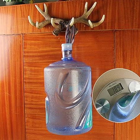 DYR Perchero Vintage Deer Antlers Ganchos de Pared Exhibidor ...