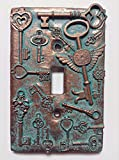 Keys (Steampunk) Stone/Copper/Patina Light Switch Cover (Custom) (Copper/Patina)