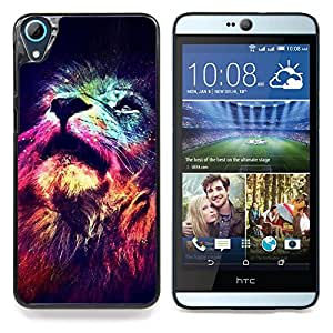 """For HTC Desire 826 Case , León Cosmos Profundo Universo Rey Espacial"""" - Diseño Patrón Teléfono Caso Cubierta Case Bumper Duro Protección Case Cover Funda"""