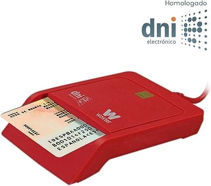 Woxter Lector DNI Electrónico Rojo - Lector de DNI Electrónico Inteligente, DNI 3.0, Plug & Play, Compatible con PC y Mac: Amazon.es: Informática