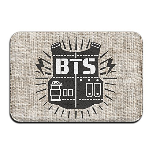CoverLods Fashions Rock Hiphop Band BTS Logo Personalized Indoor/Outdoor Doormats