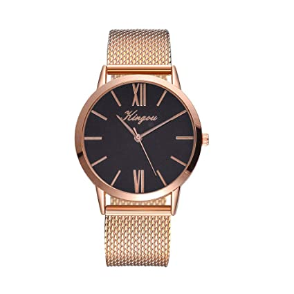 YUYOUG - Reloj de Cuarzo para Mujer, Correa de Silicona, Reloj analógico, Reloj