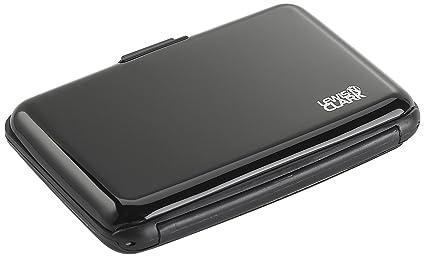 6bd628f115ef Lewis N. Clark Rfid Aluminum Wallet, Black, One Size