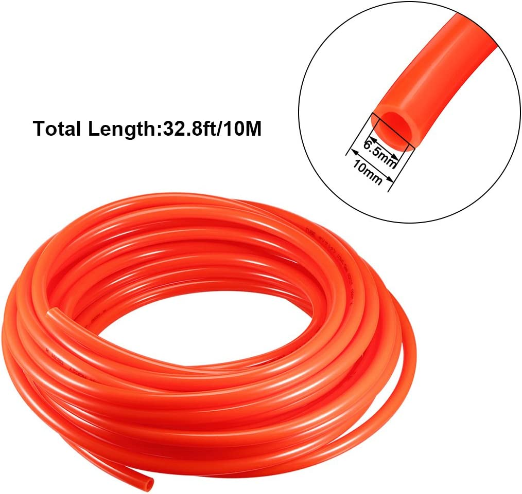 sourcing map Pneumatic Hose 8mm OD 5mm ID Polyurethane PU Air Hose Pipe Tube 10 Meter 32.8ft Clear