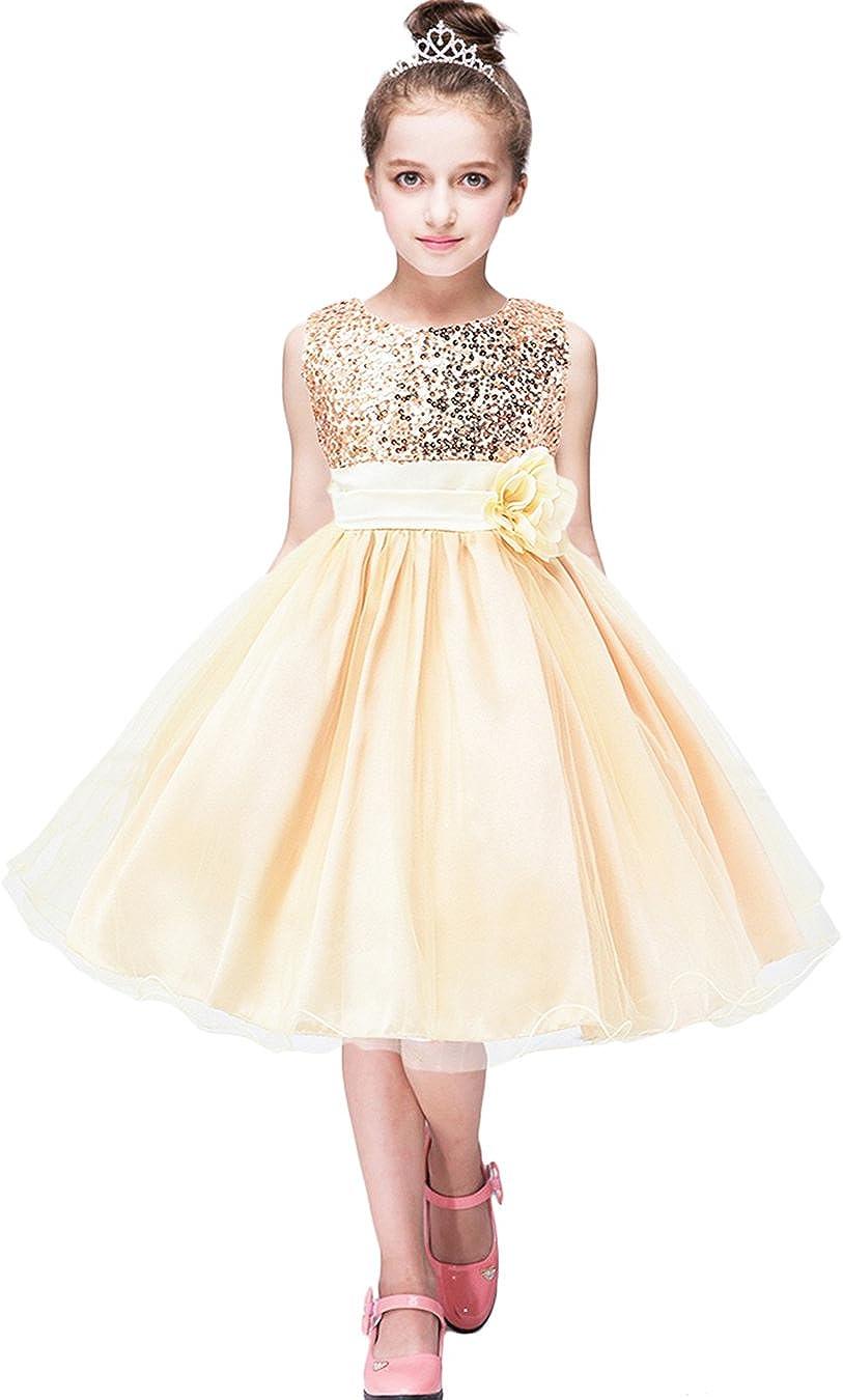 Kids Girls Short Sleeve Mesh Tutu Dress Child Princess Party Dresses LA