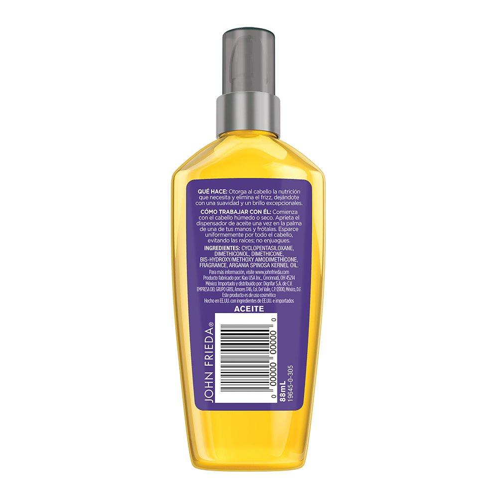 John Frieda Frizz Ease Nourishing Elixir Oil , 3 Fluid Ounce by John Frieda: Amazon.es: Belleza