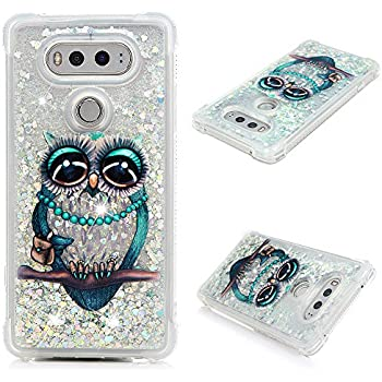 official photos 3d336 a04c1 LG V20 Case, Liquid Bling Glitter Sparkle TPU Phone Cover 3D Cute Star  Flowing Floating Quicksand and Flowing Plastic Soft TPU Shock Absorption  Cover ...
