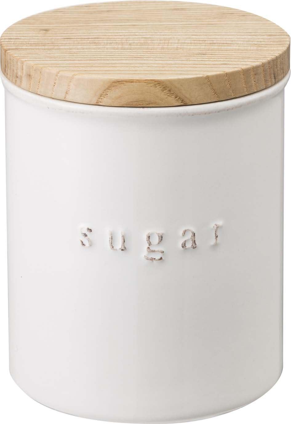 Yamazaki Home Ceramic Canister-Dry Food Kitchen Storage Container Organizer, One Size, White