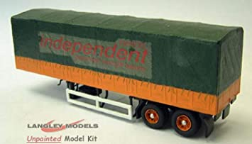 Langley Models Scammell 34 pies lona Trailer cubierto OO escala Kit G6 sin pintar