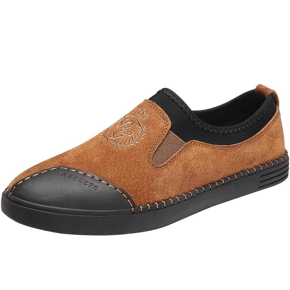 Mens Casual Leder Loafers Handmade Slip-On Bequeme Mokassins Schuhe Fahren Mode Schuhe