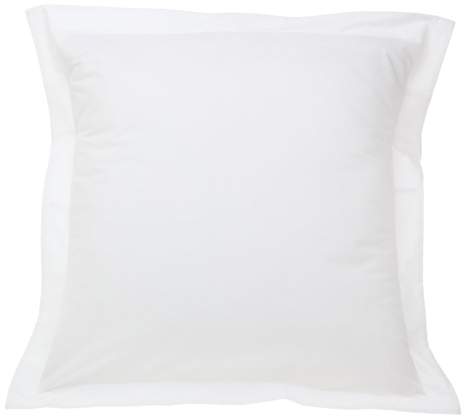 Home Decore Linen 600-Thread-Count Egyptian Cotton Euro/European ( 26'' X 26'' ) Size 2 Piece Pillow Shams Cover Only White Solid