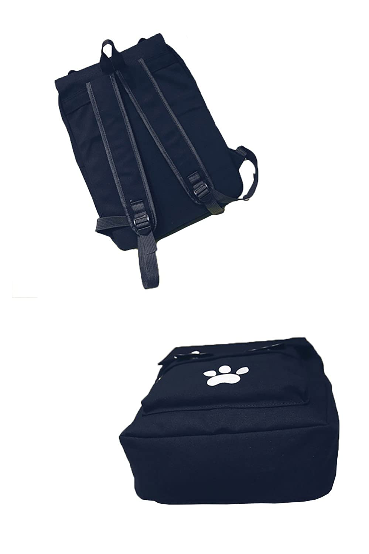103a6b8da75a YOUMU Japanese Cute Cat Embroidery Backpack Girls Schoolbag Travel Shoulder  Bag (Black)  Amazon.co.uk  Luggage