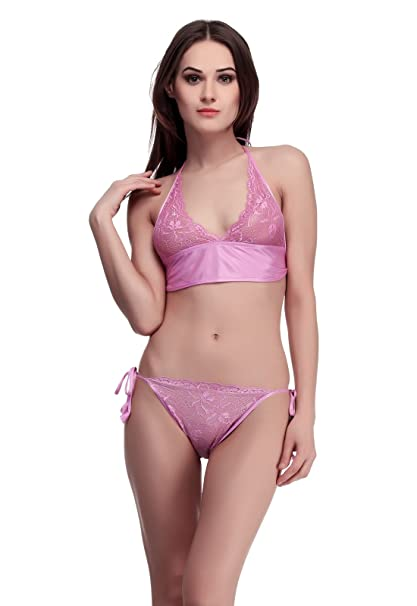 30f856e8a4 Belle Nuits Women s Girls Satin Nylon Lycra Spandex Bikini Set for Women  for Beach