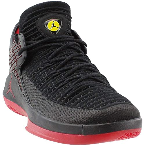 Nike Men s AIR Jordan XXXII Low Black Red-Yellow Basketball Shoes-9 ... 7f705132b
