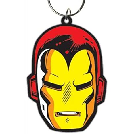 GUIZMAX Llavero Iron Man Marvel 6 cm Llavero: Amazon.es ...