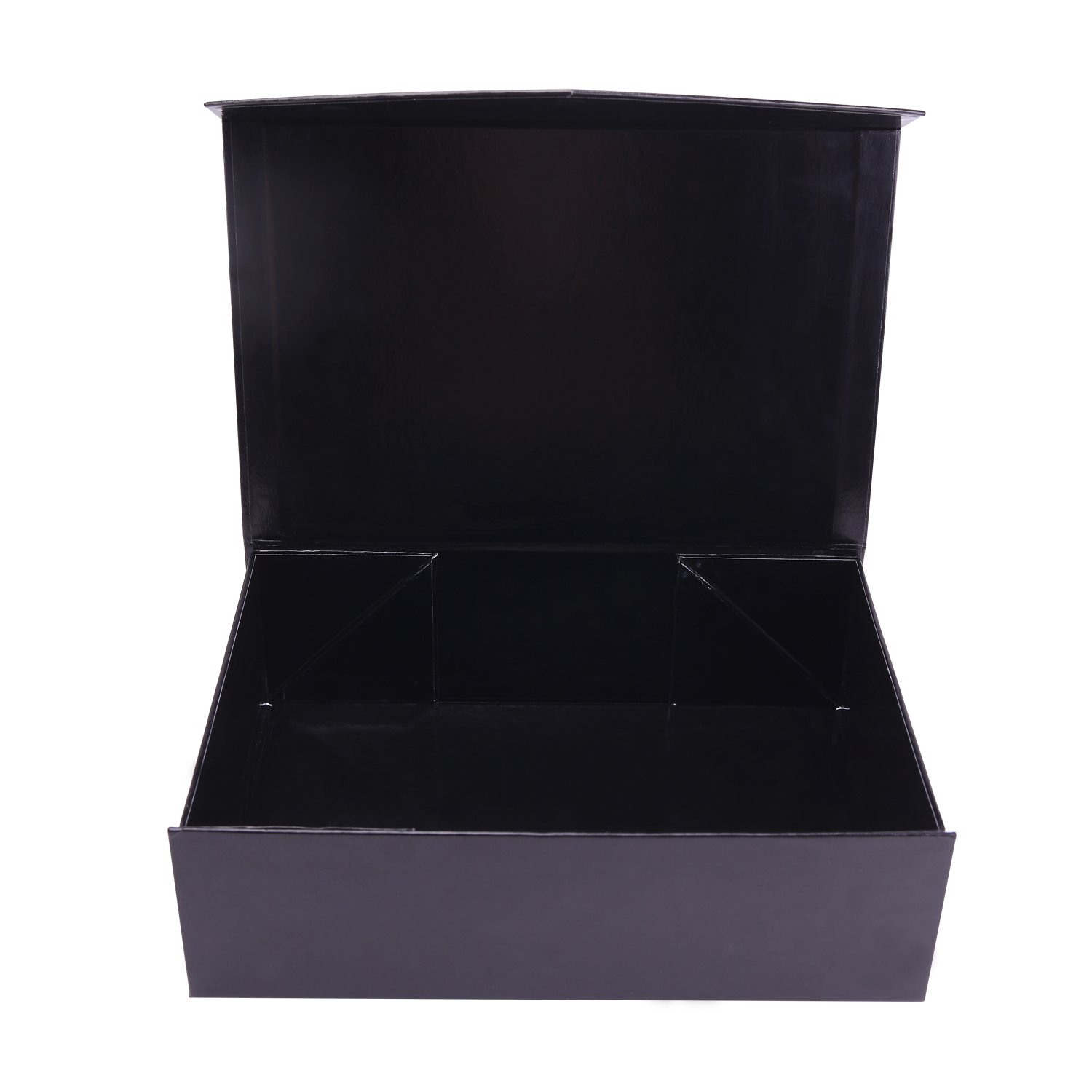 Large (13.9'' x 4.4'' x 9.2'') Gift Box Magnetic Closure Box Magnetic Closure Collapsible Gift Box Hamper Box Decorative Storage Box Decorative Boxes with Magnetic Closure (Black, Pack of 5 by PACKHOME by PACKHOME (Image #3)
