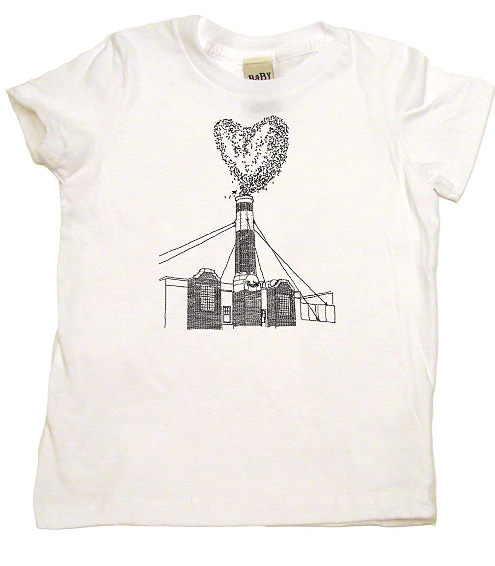Cool Kid Clothes Portland Chimney of Swifts Heart of Birds Toddler T-Shirt