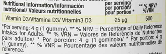 WEIDER Gummy up Revolution SIN GLUTEN Vitamin D 50 Gom.: Amazon.es: Alimentación y bebidas
