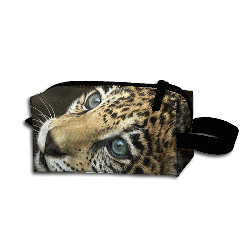 Makeup Cosmetic Bag Animals Tiger Painting Zip Travel Portable Storage Pouch For Men Women
