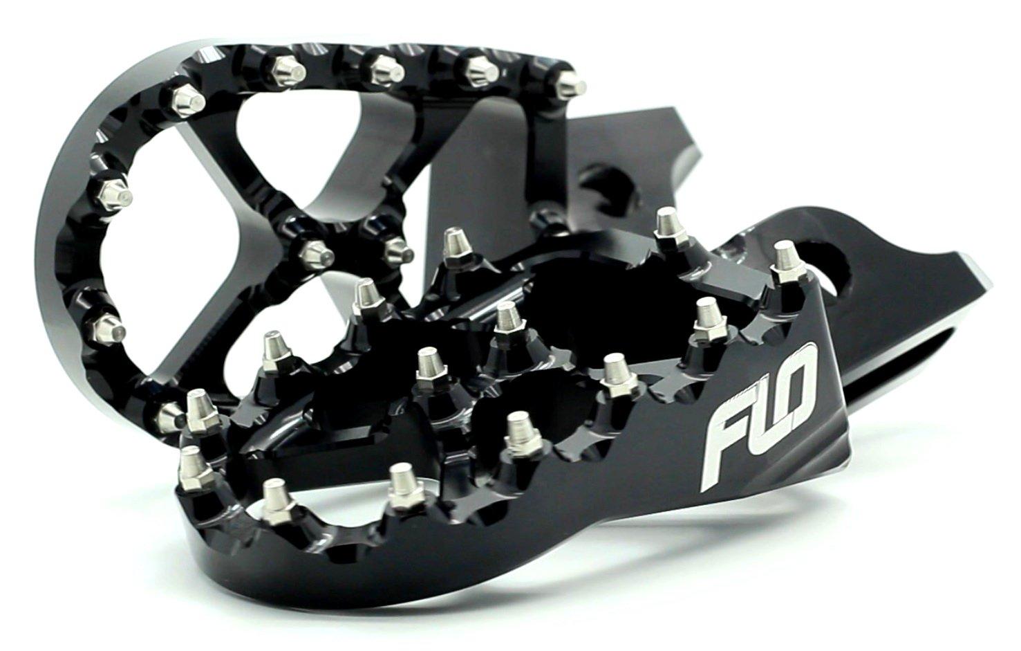 Flo Motorsports Black Husqvarna 125-501 Fc/fe/tc - Husaberg 390-550 Fe - Beta 50-525 Foot Pegs Fpeg-795blk