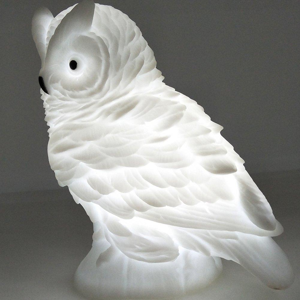 elegantstunning Cute Cartoon Animal LED Night Light Rabbit Fox Owl Shape Lights Luminous Toys Home Decoration Kids Gift