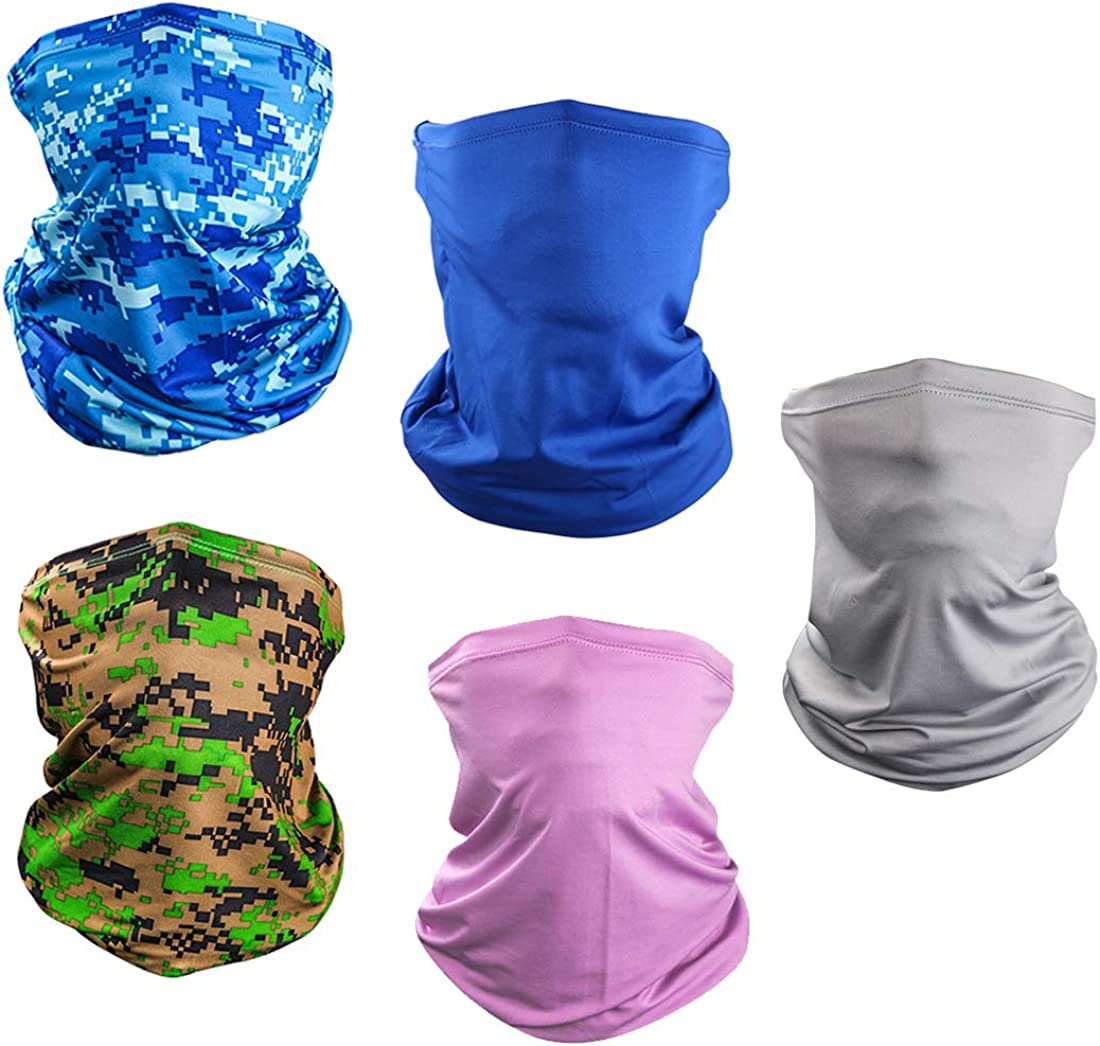 Sun UV Protection Face Mask Neck Gaiter Windproof Scarf Sunscreen Breathable Bandana