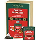VAHDAM, Organic English Breakfast Tea (100 Tea Bags)   HIGH Energy Black Tea   Strong, Robust & Flavoury Black Tea Bags   Bre
