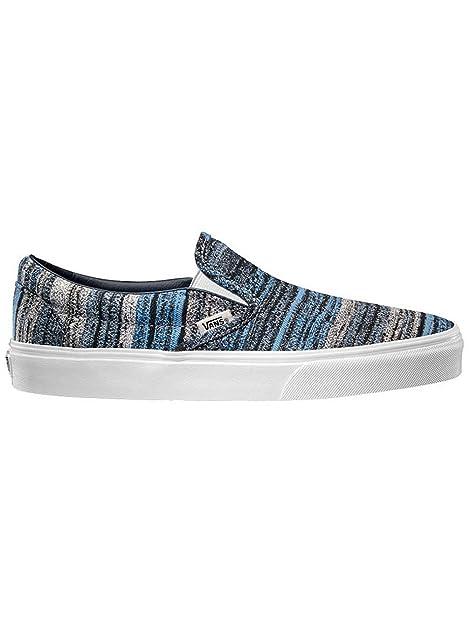 Vans - Mocasines para Hombre Azul (Italian Weave) Blue 9: Amazon.es: Zapatos y complementos