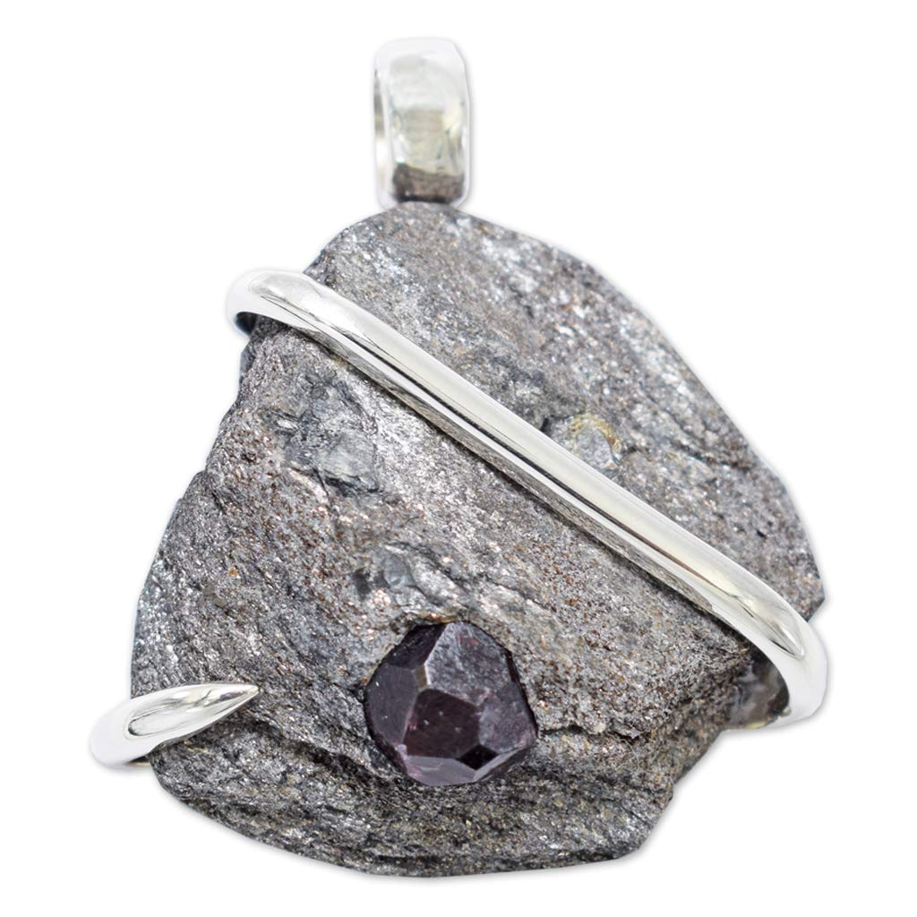 Alaska Garnet Pendant Necklace by Stones Desire