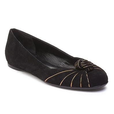 dd63bd19f55b Amazon.com  Gucci Women s Suede Ballerina Flat Shoes Black  Shoes