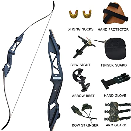 Amazon dq adult recurve bow set takedown survival bow 30 35 dq adult recurve bow set takedown survival bow 30 35 40 45 50 lb right handed solutioingenieria Image collections