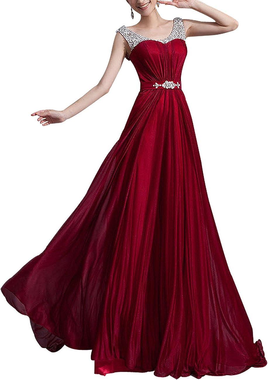 Lactraum LF20 Brautjungfernkleid Ballkleid Abendkleid Abschlussball  Kleider Hochzeitskleider Abiballkleid Weinrot Strassteinen Pailletten  Armlos