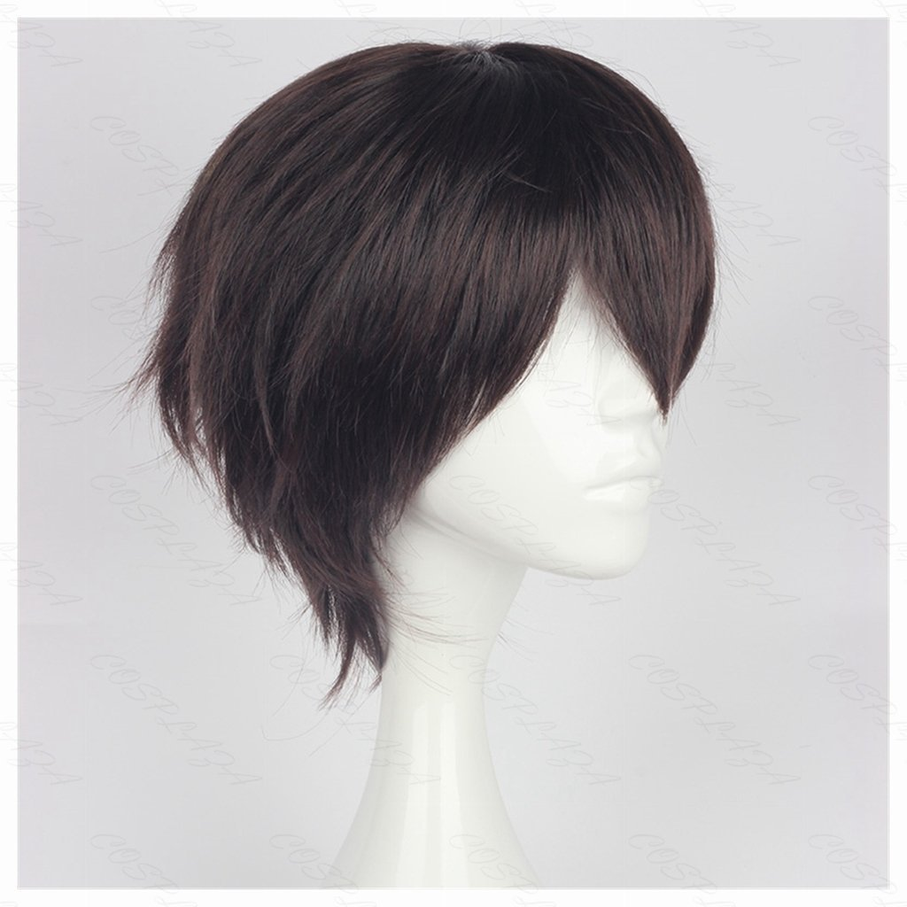 COSPLAZA Cosplay Wig Short Brown Boy Anime Hair Heat Resistant Synthetic Wig
