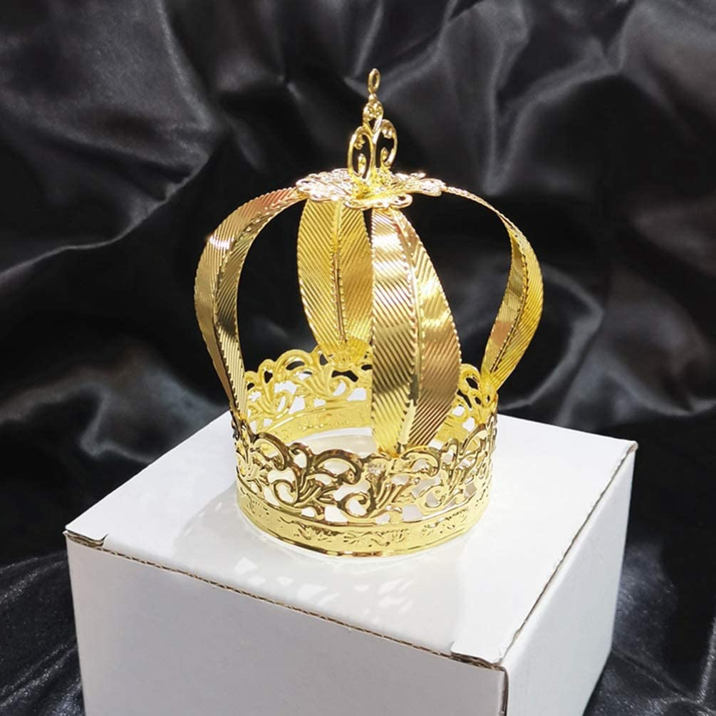 Hemoton Topper de La Torta de La Corona de La Vendimia Decoraciones de La Ducha Del Beb/é Princesa Pr/íncipe Corona Tiara Decoraciones de La Torta de Cumplea/ños Suministros Del Banquete de