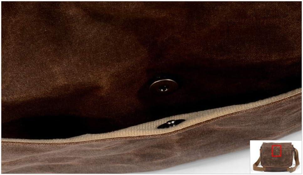 SYF/&DJN Retro Waterproof Genuine Leather Camera Bag Photography Package DSLR Shoulder Cnavas Camera Case for Sony Nikon Canon