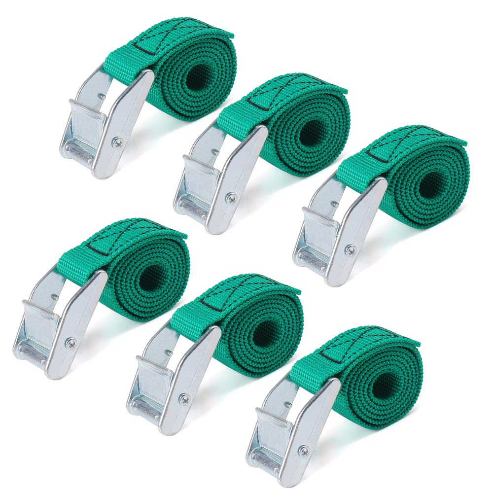 RilexAwhile Lashing Straps 2 Ft x 1 Inch Tie Down Straps up to 600lbs, 6 Pack