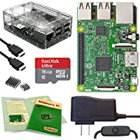 Viaboot Raspberry Pi 3 Complete Kit — Official Micro SD Card, Premium Clear Case Edition