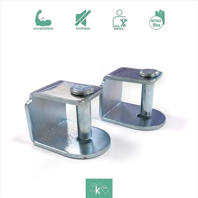 Dreaming Kamahaus Pack de Abrazaderas para somier | 6 Unidades | Apta para Patas con Tornillo de 10mm |Compatible con somier de 30x40 | Acero |