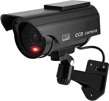 Opinión sobre DRROT Las cámaras simuladas simuladas de bala con energía solar, el uso en exteriores / interiores 1 paquete negro bala