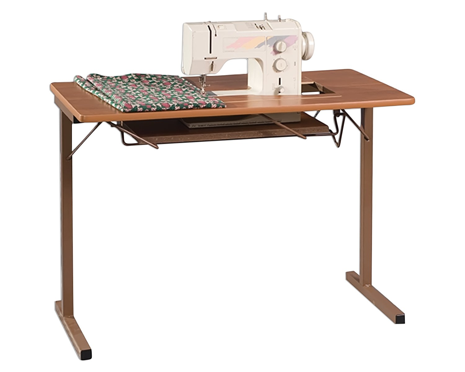 Portable Sewing Machine Table.Model 299 Portable Sewing Table Quick Lift Portable Sewing Table 24 X 12 5 Opening Rustic Maple