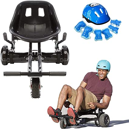CZNDY Asiento Hoverboard,Silla de Scooter Self Balance,Casco Infantil7-piece,Nuevos Velcros Más Resistentes ,for 6.5