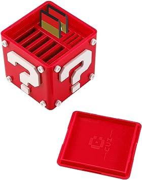 Estuche para Juegos de Nintendo Switch, AOLVO 12-en-1 Lindo Funda para Cartuchos de Juegos llevar 8 Cartuchos de Juego y 4 Tarjetas SD (Rojo): Amazon.es: Bricolaje y herramientas