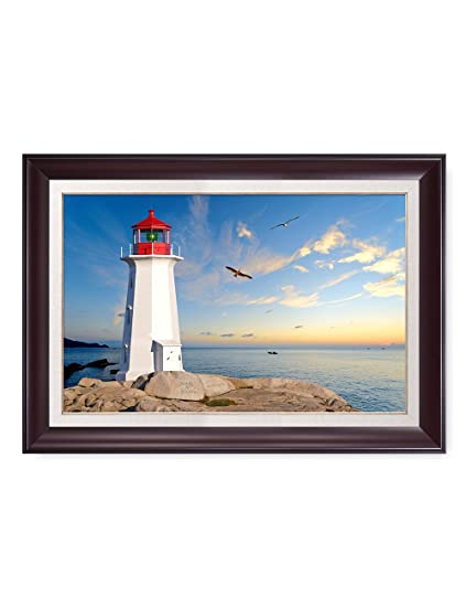 "1a953ba97d0ed DECORARTS - ""Lighthouse - Personalized Canvas Print  Artwork(Framed),Includes Names"