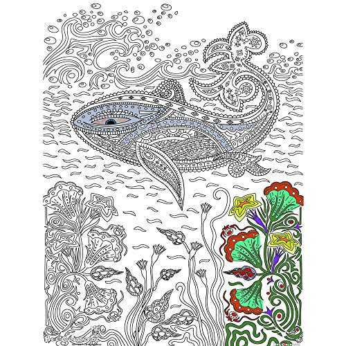 - Great2bColorful Original Big Coloring Poster (24''x 36'') Whale of a Good Time