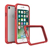 RhinoShield Coque pour iPhone 8 / iPhone 7 [Bumper CrashGuard] Housse Fine avec Technologie Absorption des Chocs - Compatible Recharge Induction [Résiste aux Chutes de Plus DE 3,5 mètres] - Rouge
